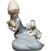 Lladro 5032 dog and cat Little Friskies figurine Juan Huerta
