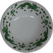 Hammersley green dragon 4602 T Goode London cereal bowls