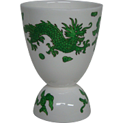 Hammersley bone china green dragon 4602 double egg cup Tiffany and Co New York