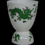 Hammersley bone china green dragon 4602 double egg cup Tiffany and Co New York