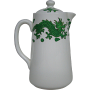 Hammersley bone china green dragon 4602 covered syrup pitcher Tiffany & Co New York