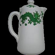 Hammersley bone china green dragon 4602 covered syrup pitcher Tiffany & Co New York