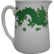 Hammersley bone china green dragon 4602 cream pitcher creamer T Goode London