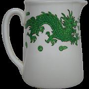 Hammersley bone china green dragon 4602 cream pitcher creamer T Goode London