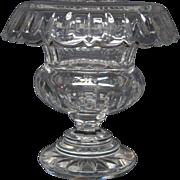 William Yeoward fine crystal vase rolled edge signed