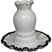 Fenton ebony crest unusual fairy lamp whimsey