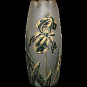 Mt Joye French cameo glass vase dragonfly marked Emile Galle unusual
