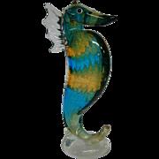 Murano Italian art glass seahorse sea horse figure