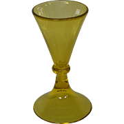 Steuben art glass bristol yellow footed cordial goblet 5192 variant