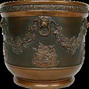 Wedgwood black basalt jasperware copper clad vase jardiniere UNUSUAL