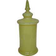 Portieux Vallerysthal yellow opaline glass huge apothecary jar