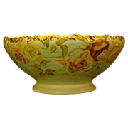 Limoges hand painted roses punch bowl T&V