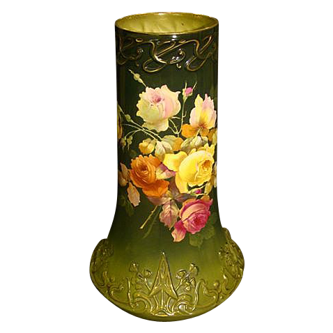 royal bonn huge hand painted roses porcelain vase finer. Black Bedroom Furniture Sets. Home Design Ideas