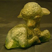 Edris Eckhardt pate de verre lamb sculpture figurine - Red Tag Sale Item