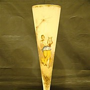 Mount Washington Colonial ware portrait  large trumpet vase