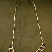 Weiss signed rhinestone necklace and earrings set