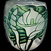 Orrefors graal Eva Englund huge calla lily vase
