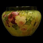 Vienna Austria hand painted roses jardiniere