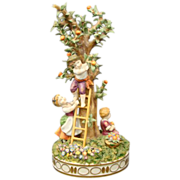 Schierholz German porcelain figurine children picking apples