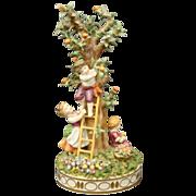 Schierholz German porcelain figurine children picking apples