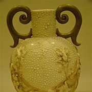 Royal Rudolstadt beaded two handle porcelain vase