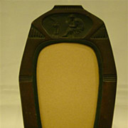 Unusual bronze art deco picture frame