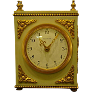 French bronze and marble ormolu mount Argo Lehne clock