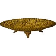 Gilded brass huge ornate footed center bowl centerpiece