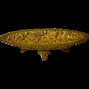 Gilded brass huge ornate footed center bowl centerpiece