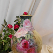 Gorgeous European Vase; Beautiful, Impressionistic Roses