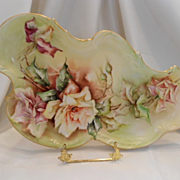 Superb T&V Limoges Rococo Tray; Wonderful Roses