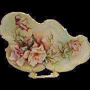 Superb T&V Limoges Rococo Tray; Wonderful Roses