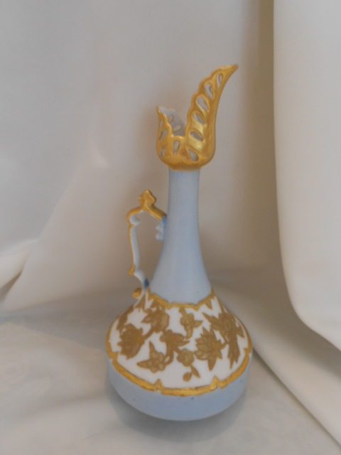 Delicate-Limoges-Redon-Ornate-Handled-Ewer