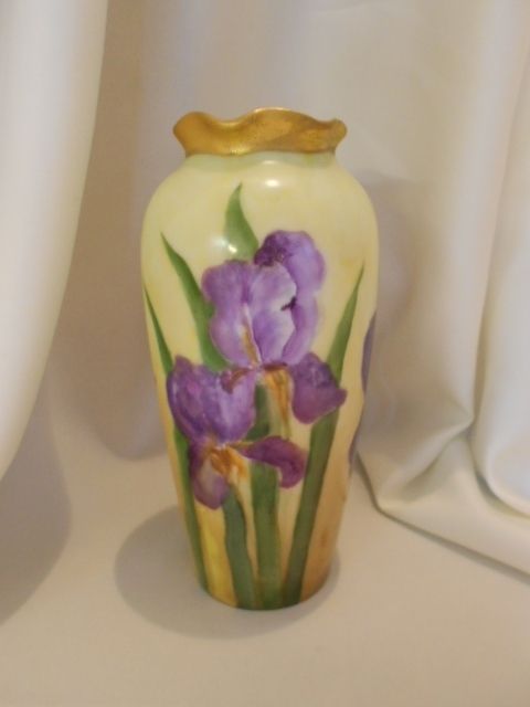 Sweet & Colorful Austria Vase; Vivid & Rich Bearded Irises