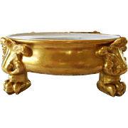 Gorgeous Vienna/Limoges Claw Footed Plinth; Base; Punchbowl; Jardiniere.