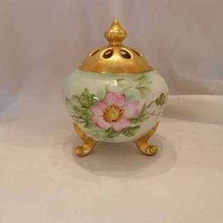 Adorable, Delightful German Footed Potpourri Jar