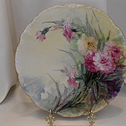 Very Lovely Limoges Plate; Julia Wells/Atlan Studio Founder; Gorgeous Carnations
