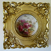 Exquisitely Hand Painted Limoges Plate; Elegantly Framed