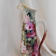 Outstanding Limoges Tankard/Ewer; Gorgeous All Over Roses