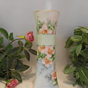 Pretty as a Picture; Bavarian Cabinet Vase; Dainty Pink Roses