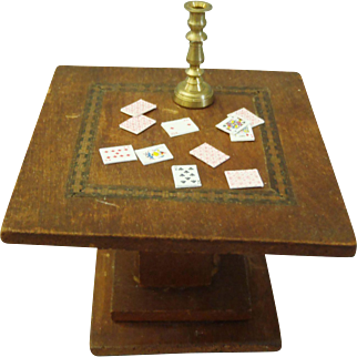 Vintage Dollhouse Mahogany card/game table