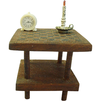 c1900's handmade Dollhouse Mahogany card/game table