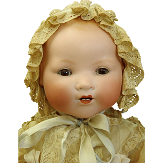 "All Original Large German Bisque Character ""My Dream Baby"" 20"" Doll"