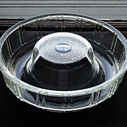 Vintage 1942 Glass Bundt Cake Pan Jello Mold Glasbake Queen Anne