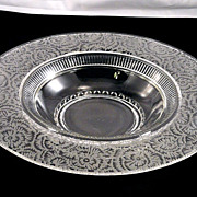 "Elegant Vintage 1940's Paden City #330 Crystal Glass FROST Etch 13"" Console Centerpiece Bowl"
