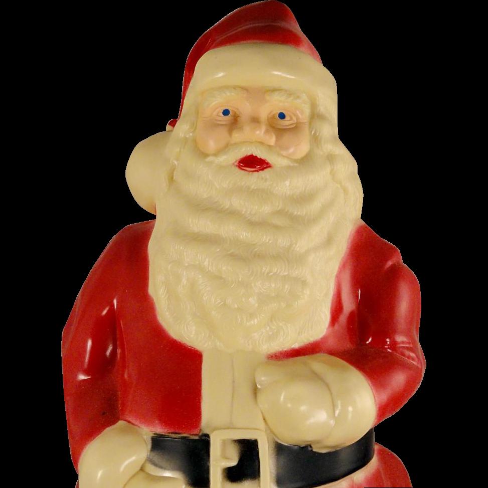 Vintage union products hard plastic large lighted santa