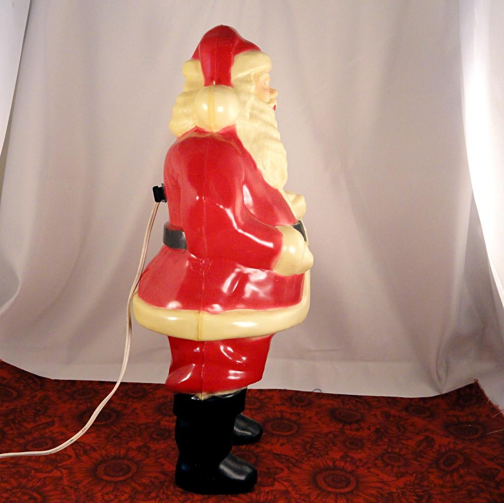 Vintage Union Products Hard Plastic Large Lighted Santa