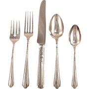 Oneida Community Tudor Plate JUNE aka Nursery Place Settings Vintage 1932 ART DECO Silver Plate Silverware Flatware
