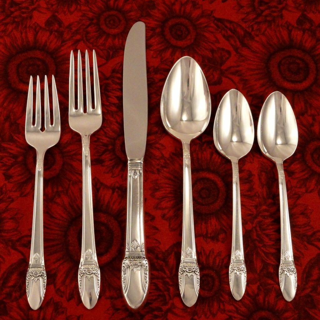 1847 Rogers First Love Art Deco Silverware Set Vintage