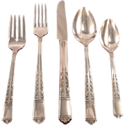Oneida Tudor Plate Royal York aka Oakleigh Grille Viande Place Settings Vintage 1937 ART DECO Silver Plate Silverware Flatware